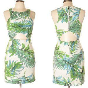 Lucy Paris Greenland Cutout Mini Dress Tropical